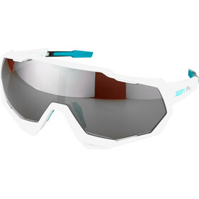 100% Speedtrap Bora Hansgrohe Special Edition Lunettes, team white/hiper silver mirror